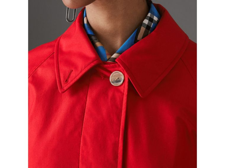 Oversized Cotton Car Coat in Parade Red - Women | Burberry - cell image 1