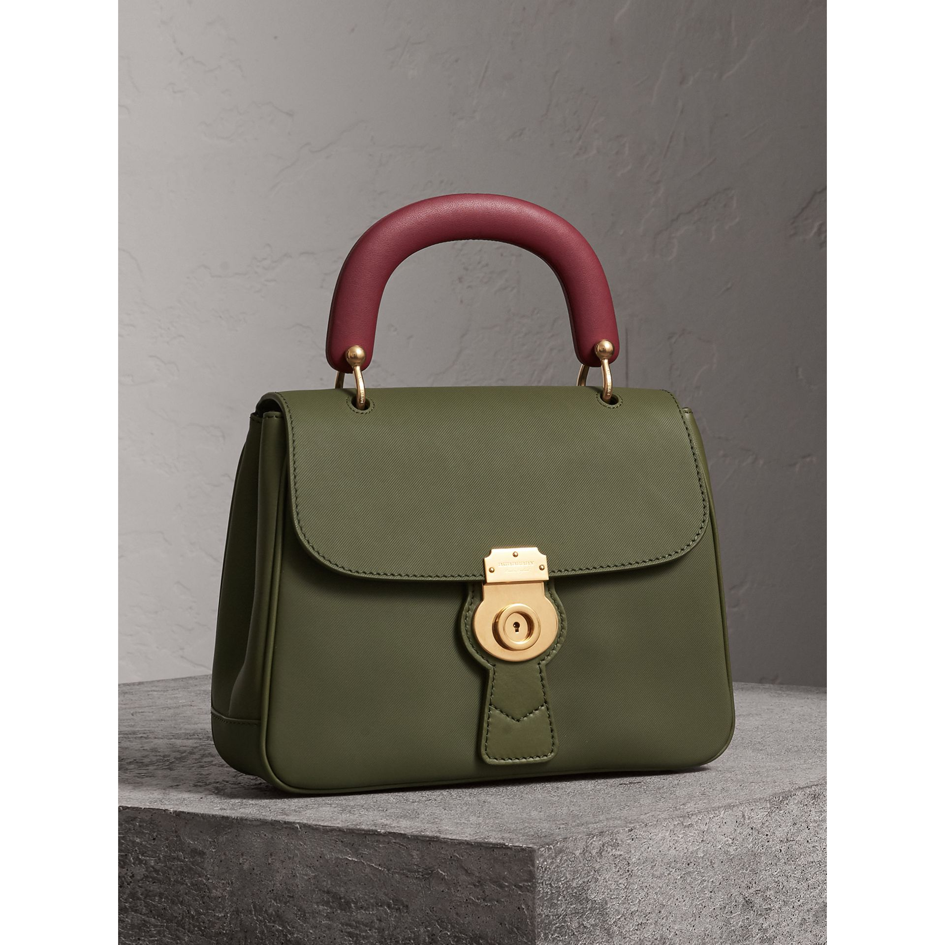 The Medium DK88 Top Handle Bag in Moss Green - Women | Burberry - gallery image 9