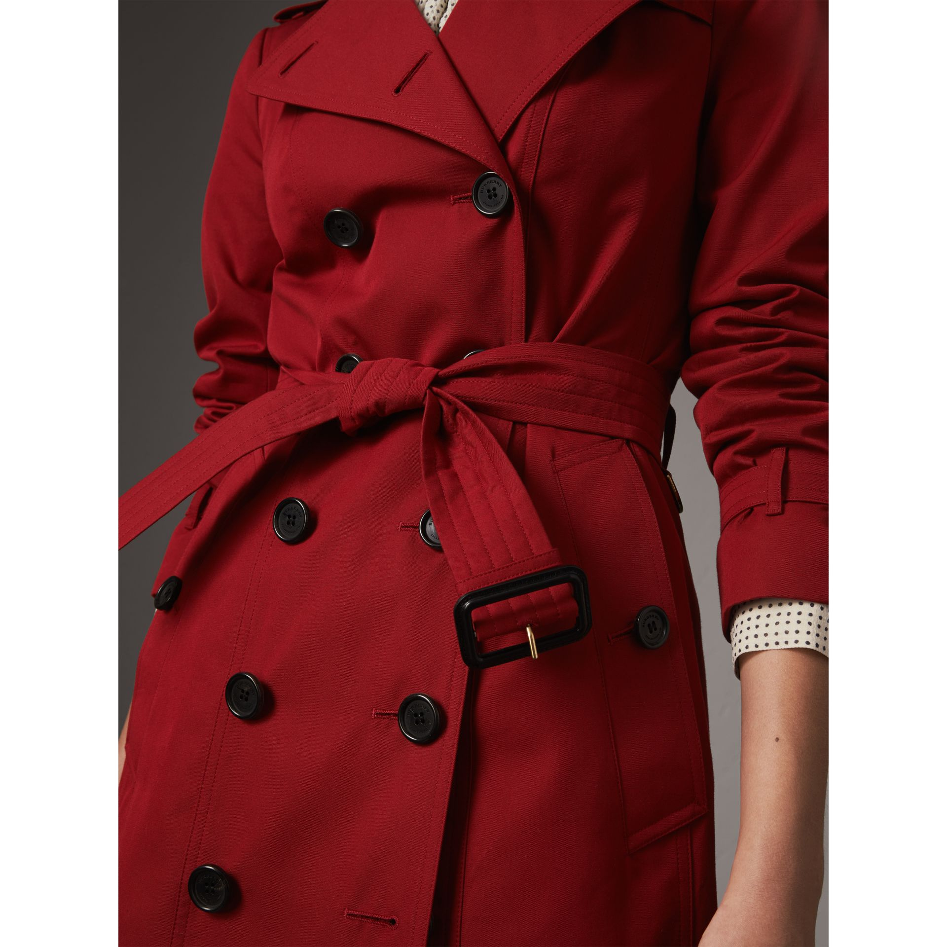 The Sandringham – Mid-length Trench Coat in Parade Red - Women | Burberry United Kingdom - gallery image 6