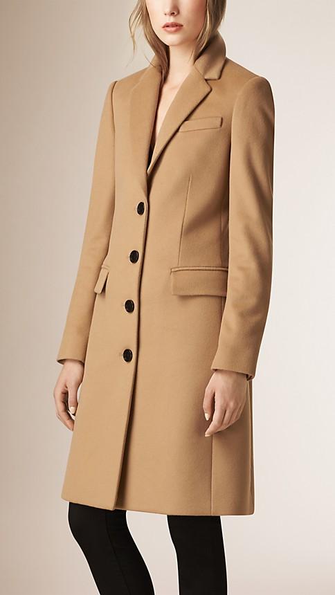 Womens Camel Cashmere Coat - JacketIn