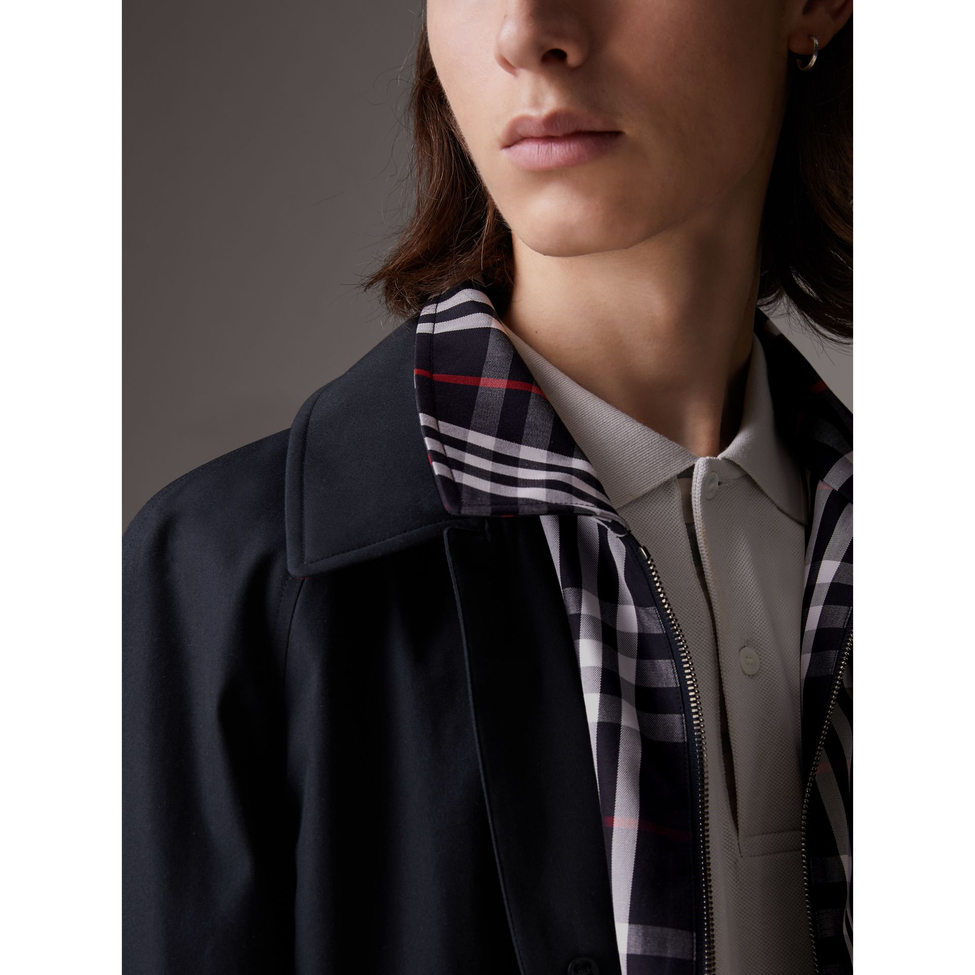 Gosha x Burberry Reconstructed Car Coat in Navy | Burberry - gallery image 1
