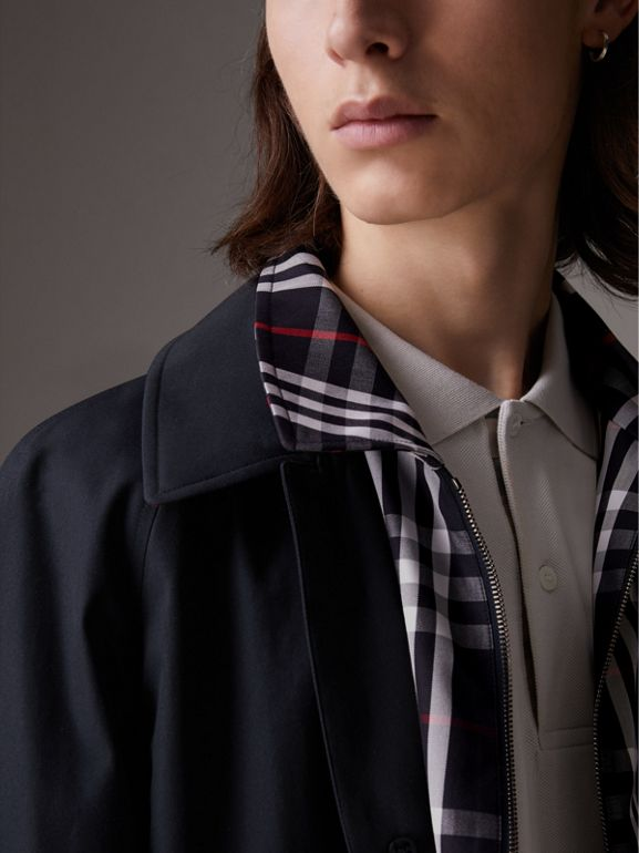 Gosha x Burberry Reconstructed Car Coat in Navy - Men | Burberry - cell image 1