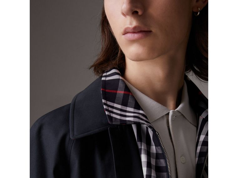 Gosha x Burberry Reconstructed Car Coat in Navy | Burberry - cell image 1