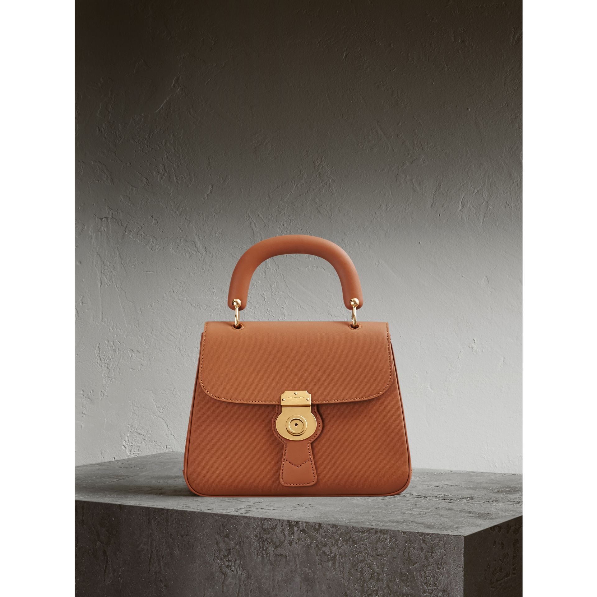 The Medium DK88 Top Handle Bag — Online Exclusive in Bright Toffee - Women | Burberry United Kingdom - gallery image 1