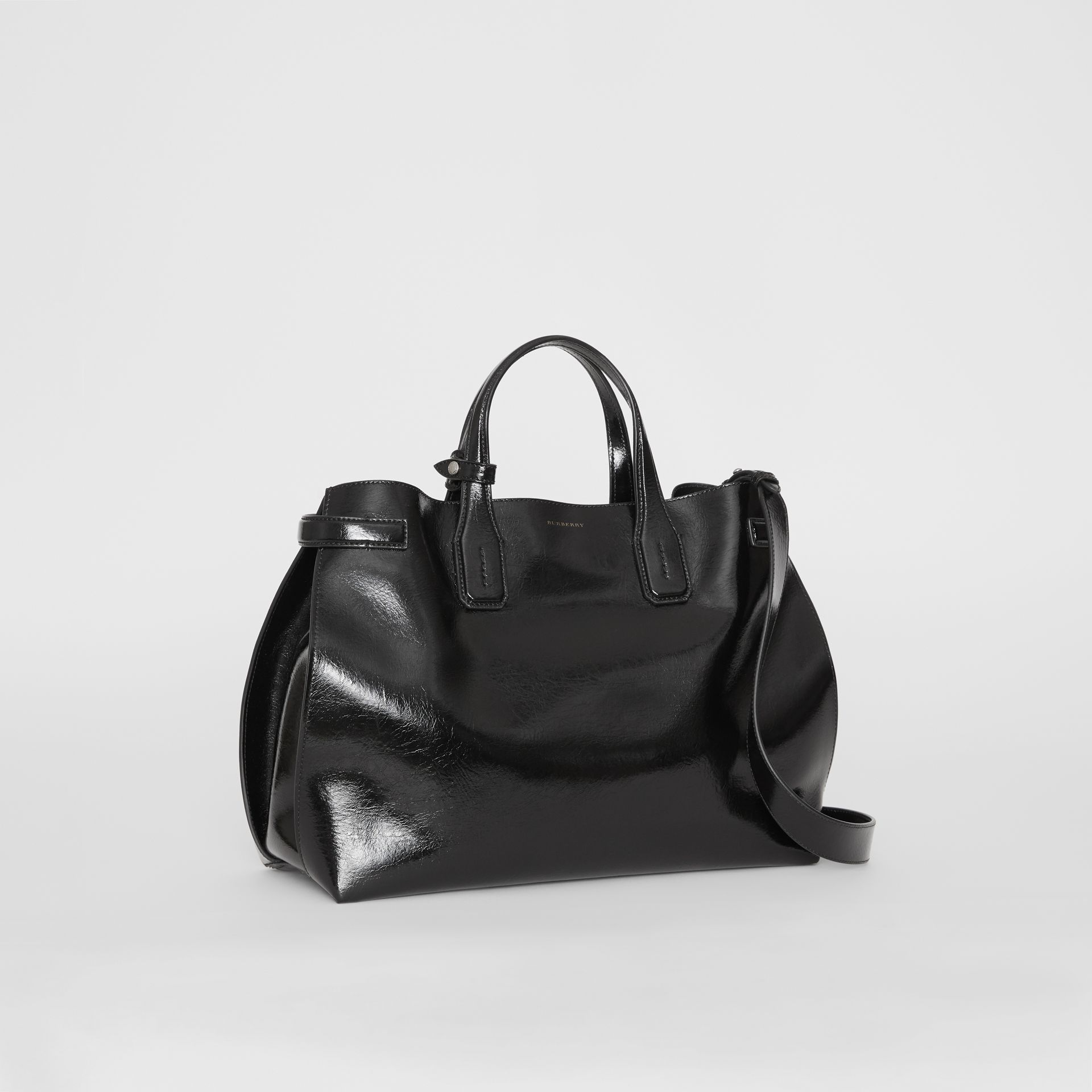 The Medium Soft Leather Banner in Black - Women | Burberry United States - gallery image 0