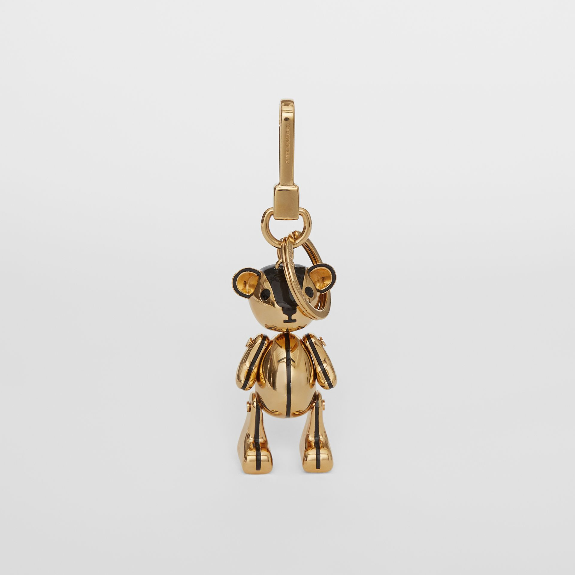 Gold-plated Thomas Bear Charm in Black/light | Burberry Canada - gallery image 2