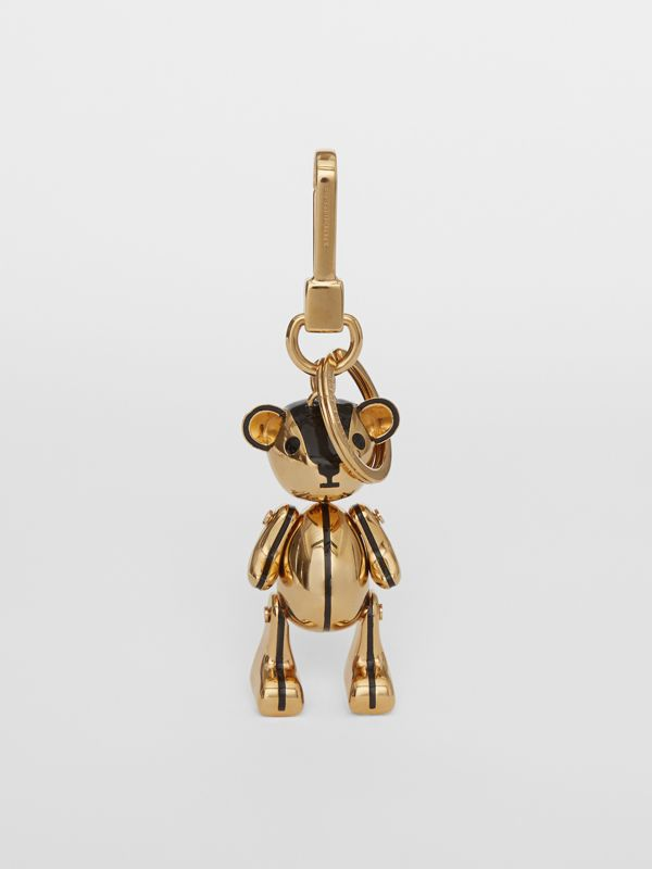 Gold-plated Thomas Bear Charm in Black/light | Burberry Singapore - cell image 2
