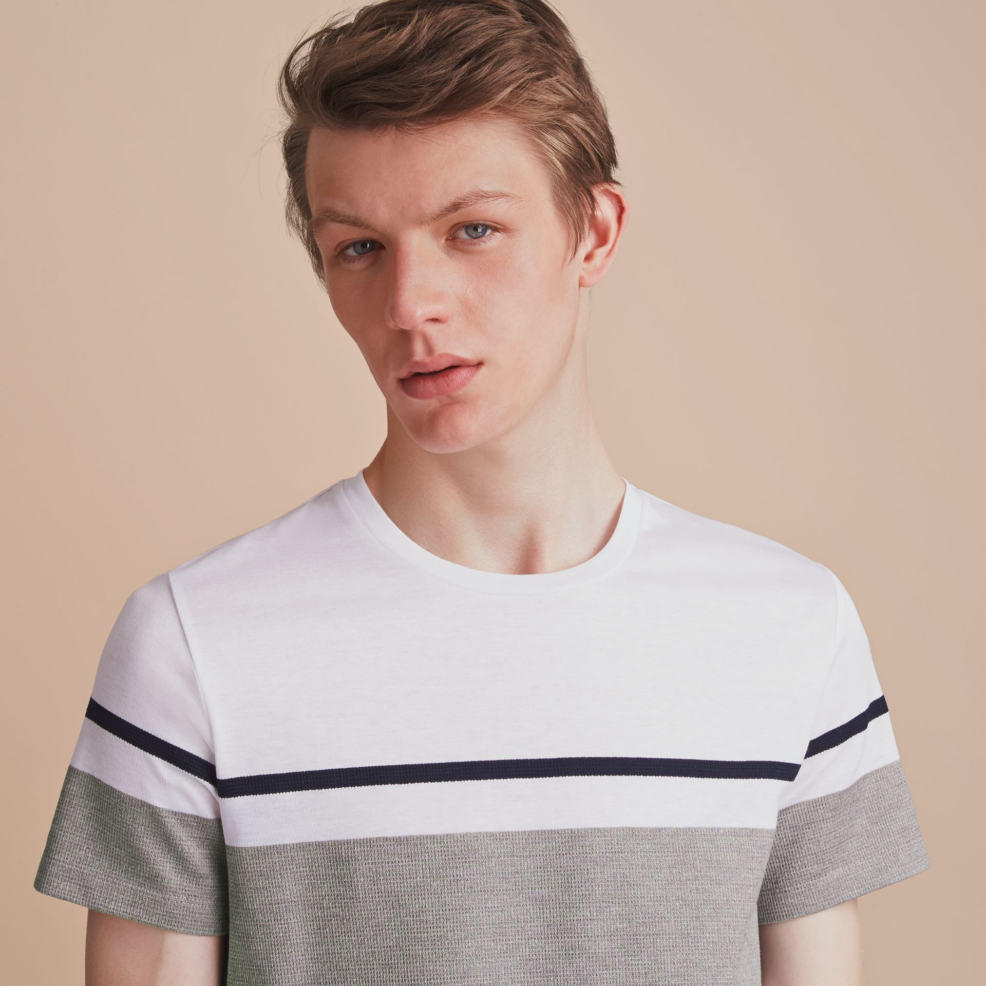 Striped Cotton T-shirt - gallery image 5
