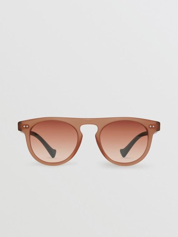 Óculos de sol com armação redonda Keyhole (Vermelho Tijolo)