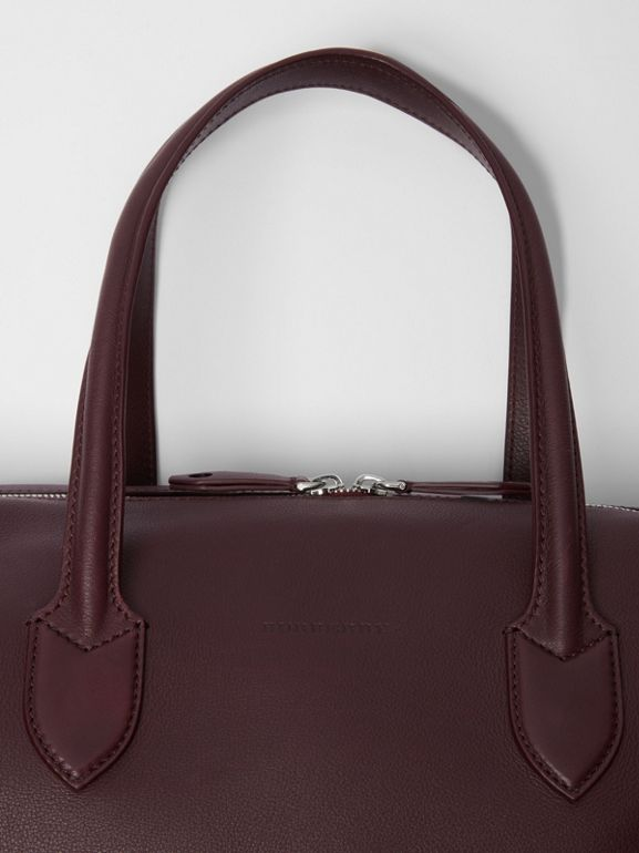 Soft Leather Holdall in Oxblood - Men | Burberry - cell image 1