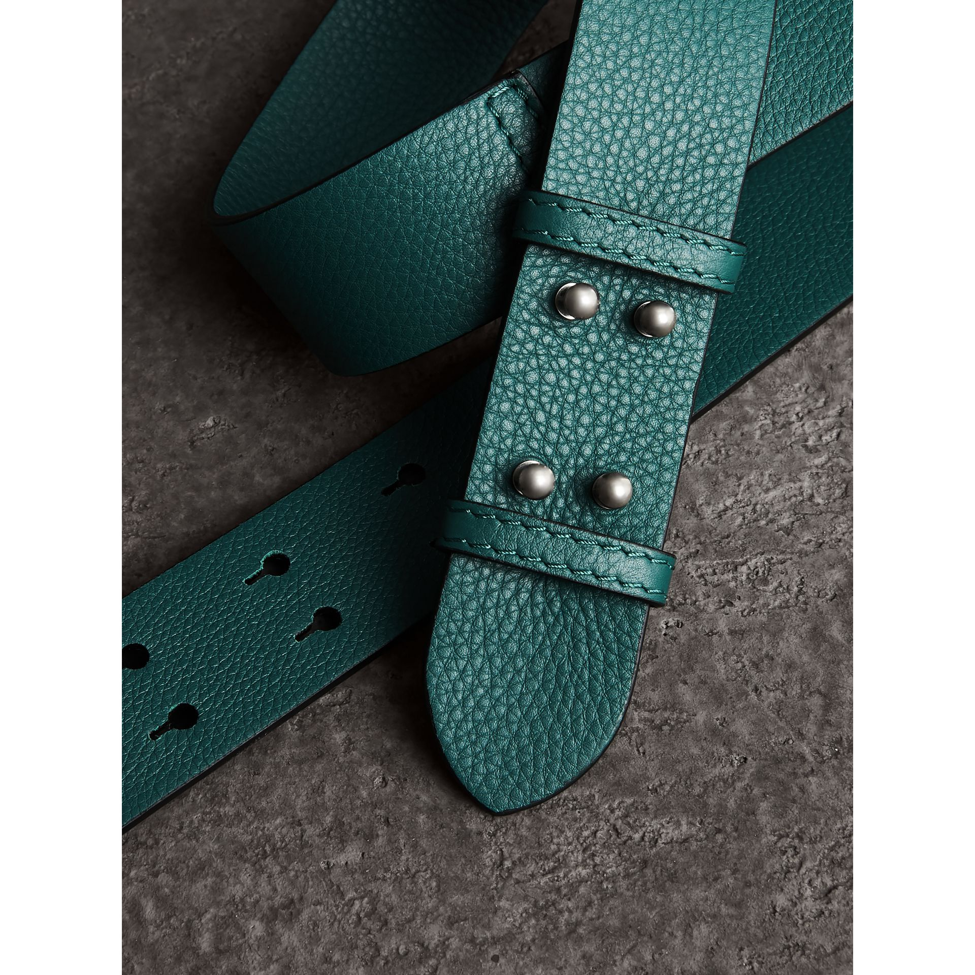 The Small Belt Bag Grainy Leather Belt in Sea Green - Women | Burberry United Kingdom - gallery image 2