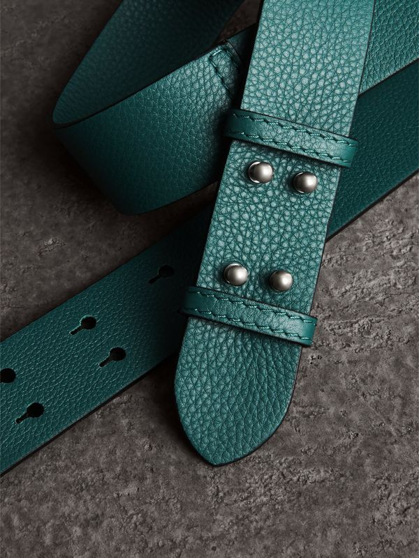 The Small Belt Bag Grainy Leather Belt in Sea Green - Women | Burberry Australia - cell image 2