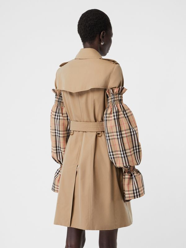 Vintage Check Puff Sleeves in Archive Beige - Women | Burberry Australia - cell image 2