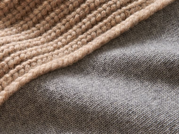 Panelled Cashmere Fisherman Sweater - Men | Burberry - cell image 1