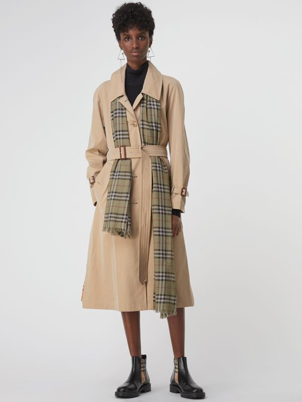 Metallic Vintage Check Wool Silk Blend Scarf | Burberry United Kingdom - cell image 2