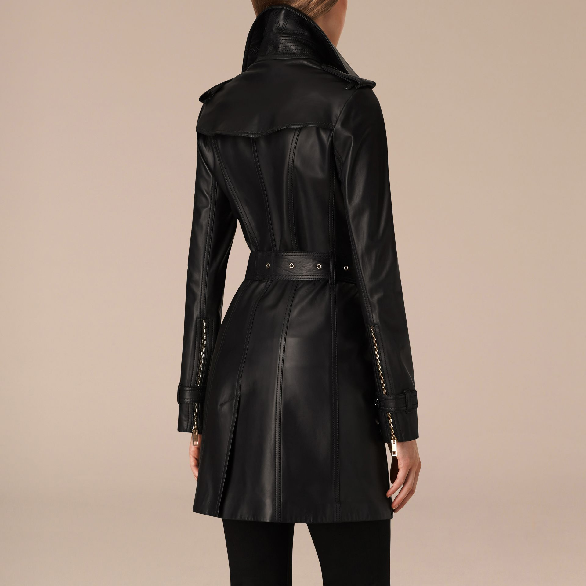 Lambskin Trench Coat - gallery image 3