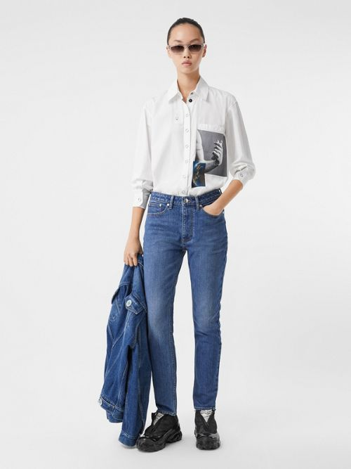 Burberry Jeans STRAIGHT FIT JAPANESE STRETCH DENIM JEANS