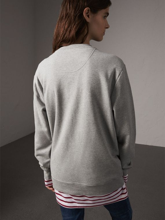 Unisex Beasts Leather Appliqué Cotton Sweatshirt - Women | Burberry - cell image 2
