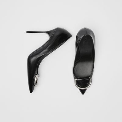 The Patent Leather D Ring Stiletto by Burberry
