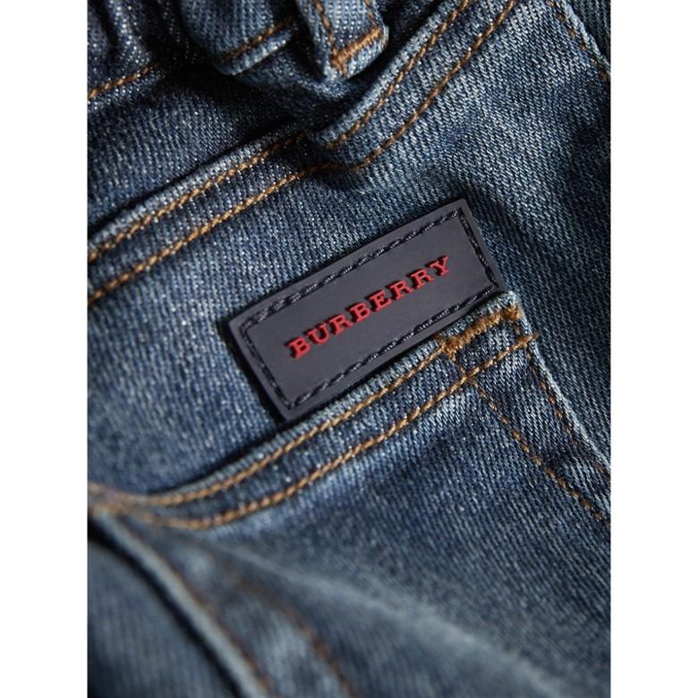 Burberry - Jean de coupe décontractée en denim indigo - 2