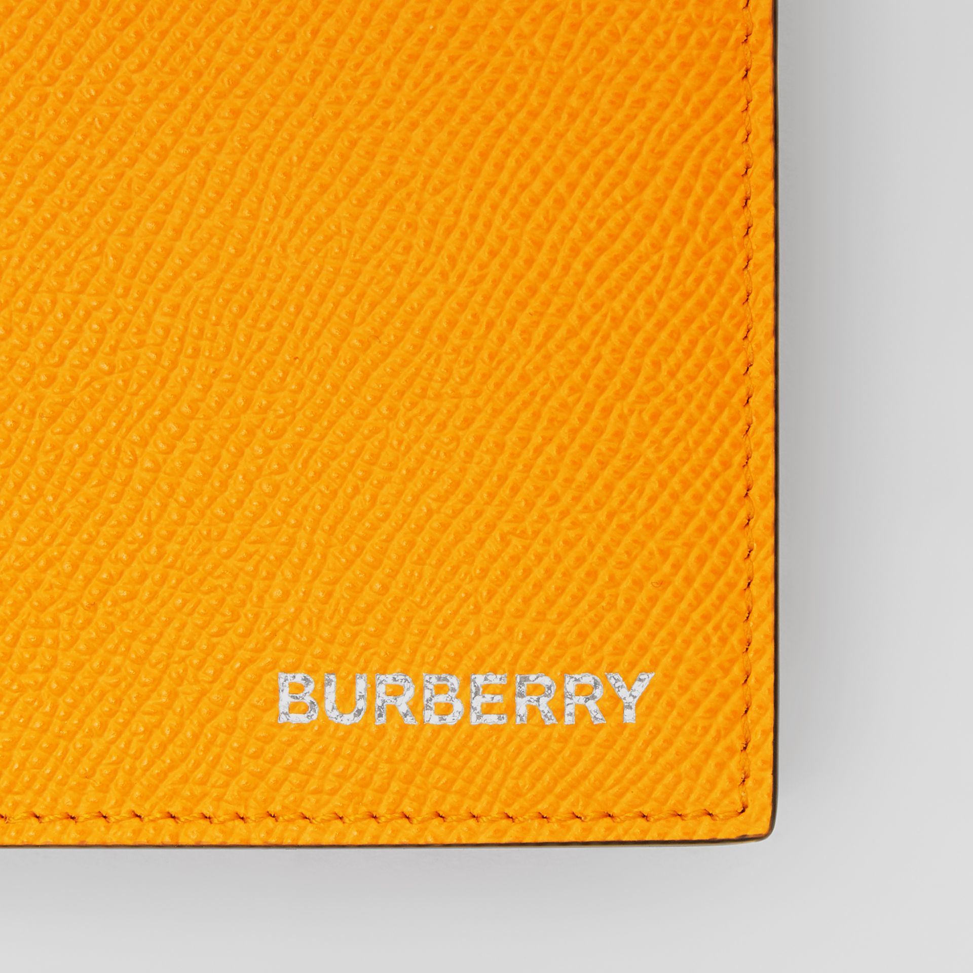 Leather International Bifold Wallet in Bright Orange - Men | Burberry Singapore - gallery image 1
