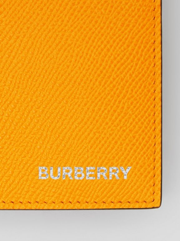 Leather International Bifold Wallet in Bright Orange - Men | Burberry Singapore - cell image 1