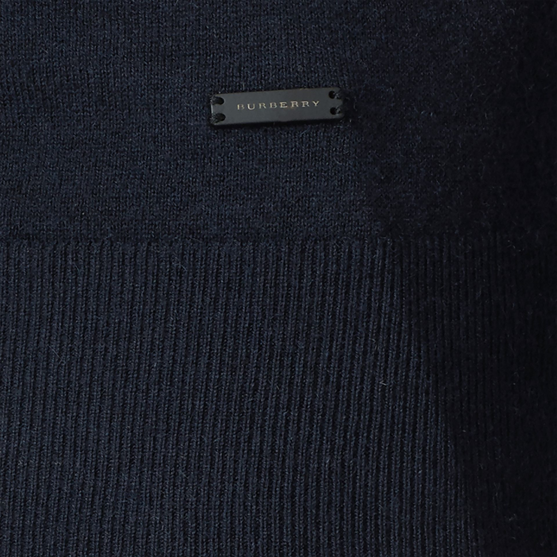 Navy Cashmere V-neck Sweater Navy - gallery image 2