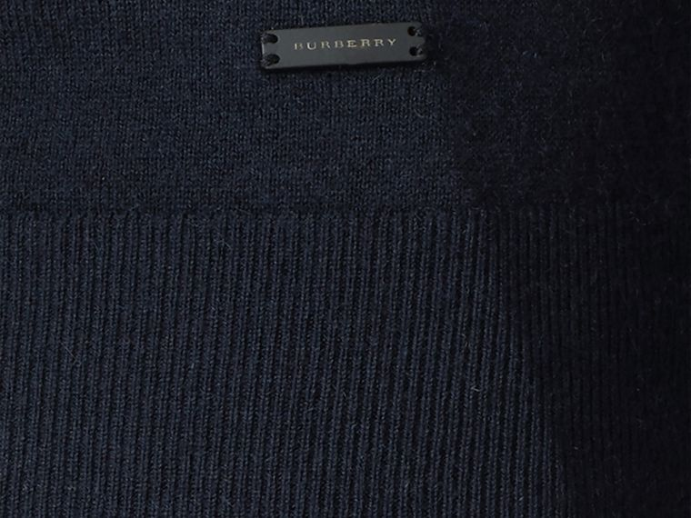 Navy Cashmere V-neck Sweater Navy - cell image 1
