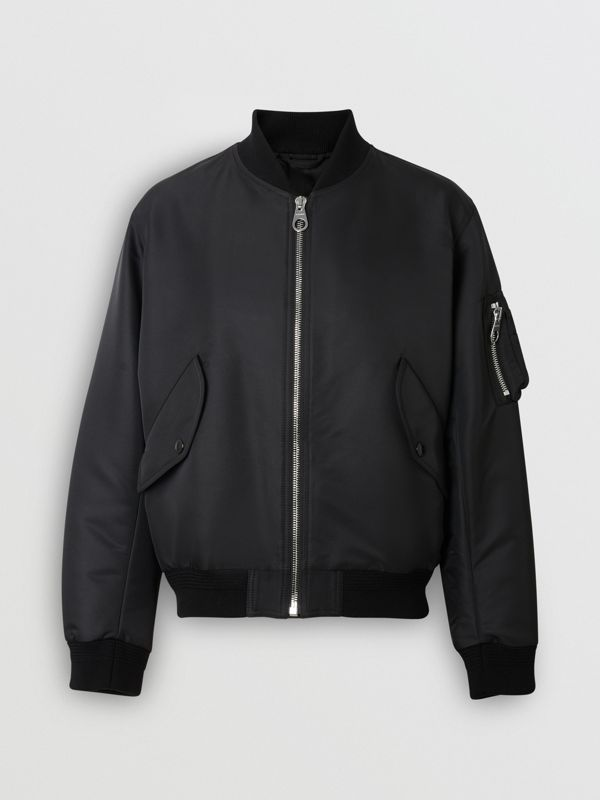 Crest Print Bomber Jacket in Black - Men | Burberry - cell image 3