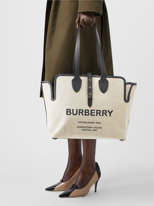 The Medium Soft Cotton Canvas Belt Bag in Black | Burberry - cell image 2