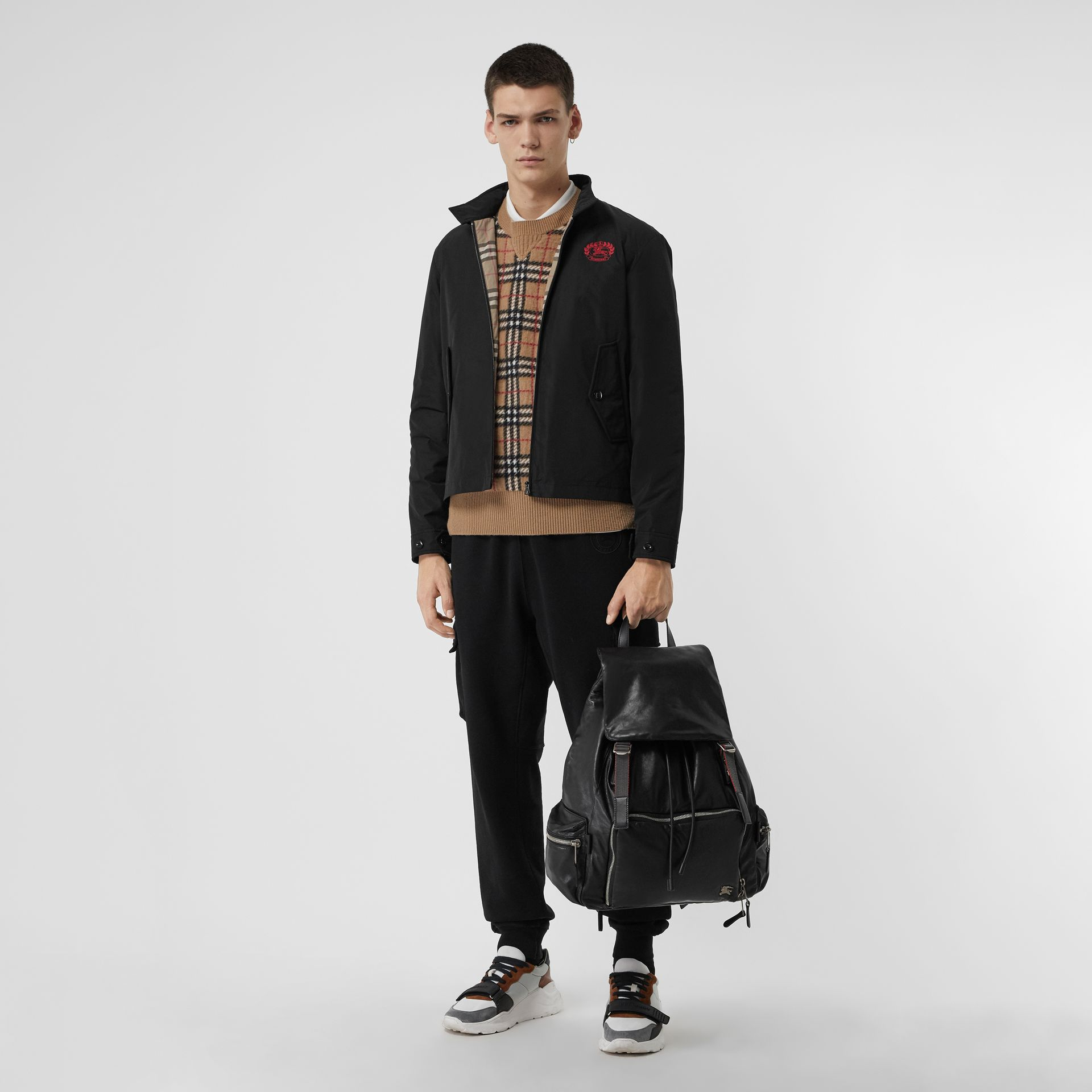 The Extra Large Rucksack in Nappa Leather in Black - Men | Burberry United States - gallery image 2