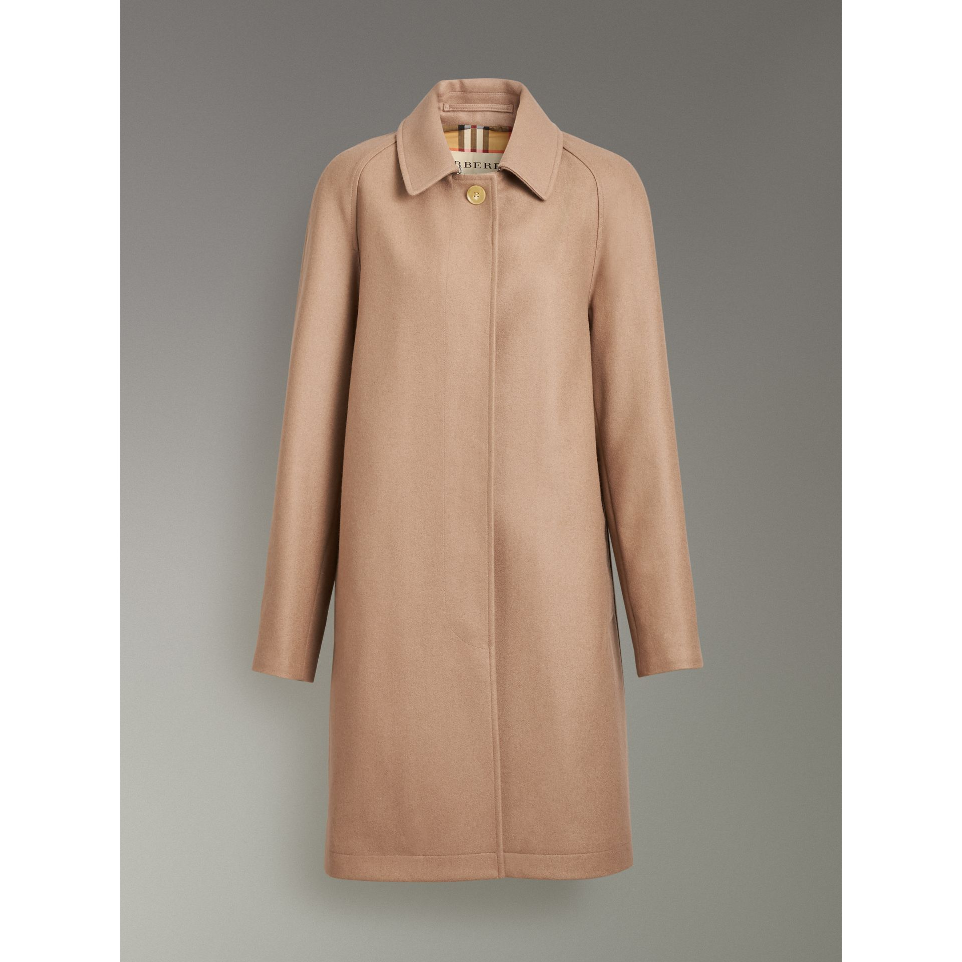 Cashmere Car Coat in Camel - Women | Burberry - gallery image 3