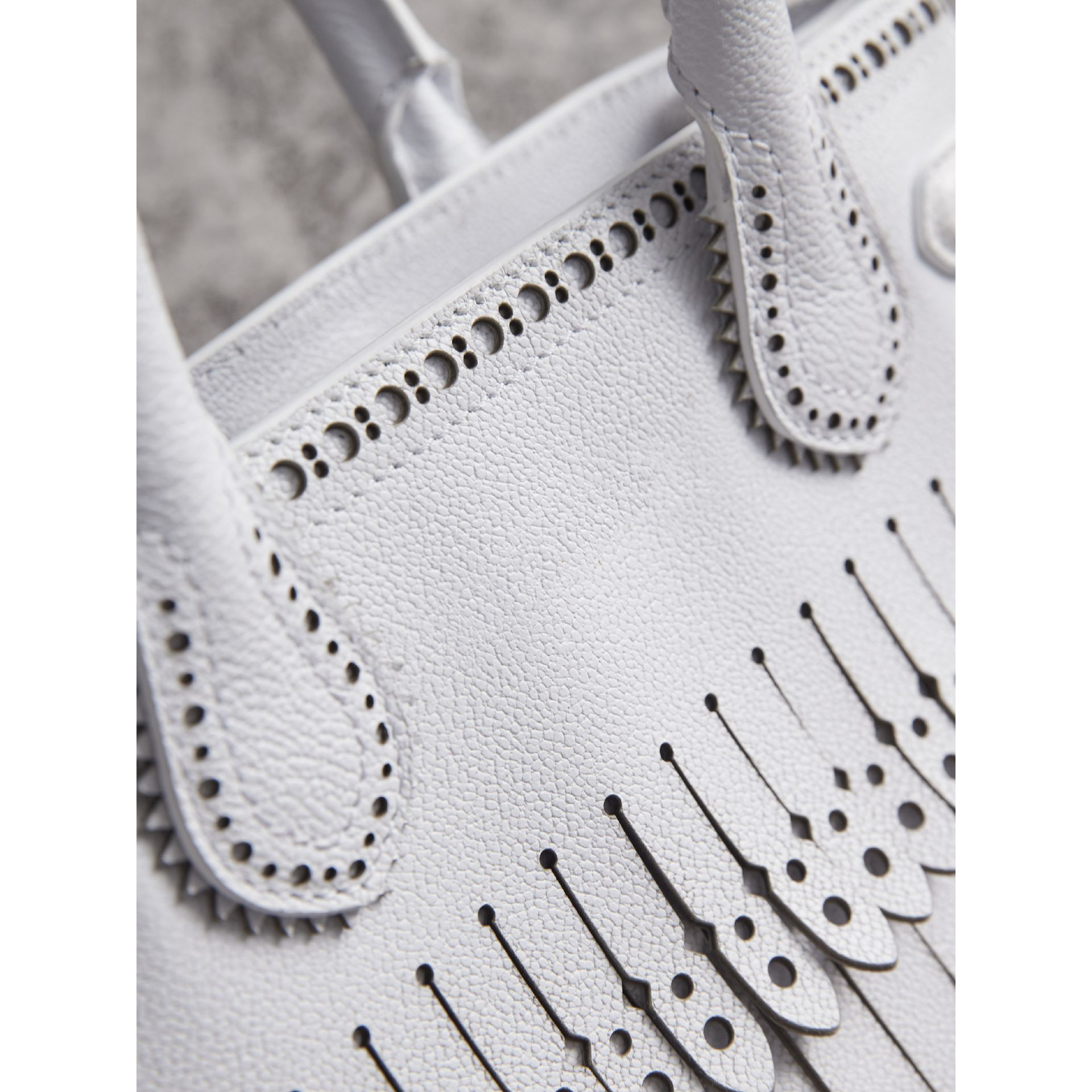 The Small Banner with Brogue Detail in Chalk White - Women | Burberry Australia - gallery image 1