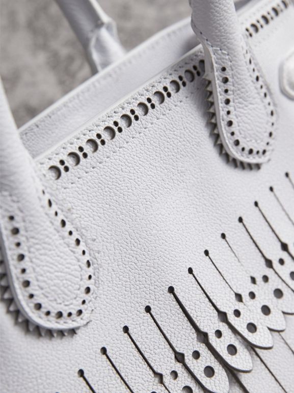 The Small Banner with Brogue Detail in Chalk White - Women | Burberry United Kingdom - cell image 1