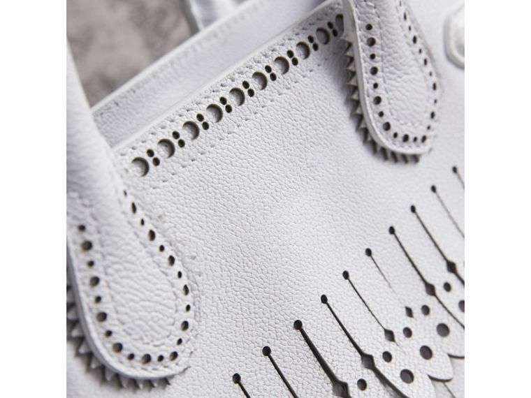 The Small Banner with Brogue Detail in Chalk White - Women | Burberry Australia - cell image 1