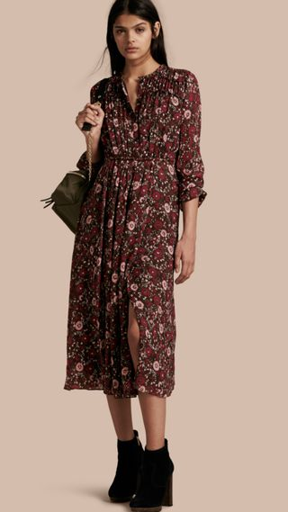 Floral Silk Georgette Dress