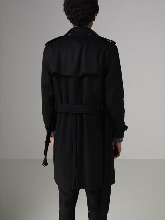Wool Cashmere Trench Coat in Black - Men | Burberry United Kingdom - cell image 2