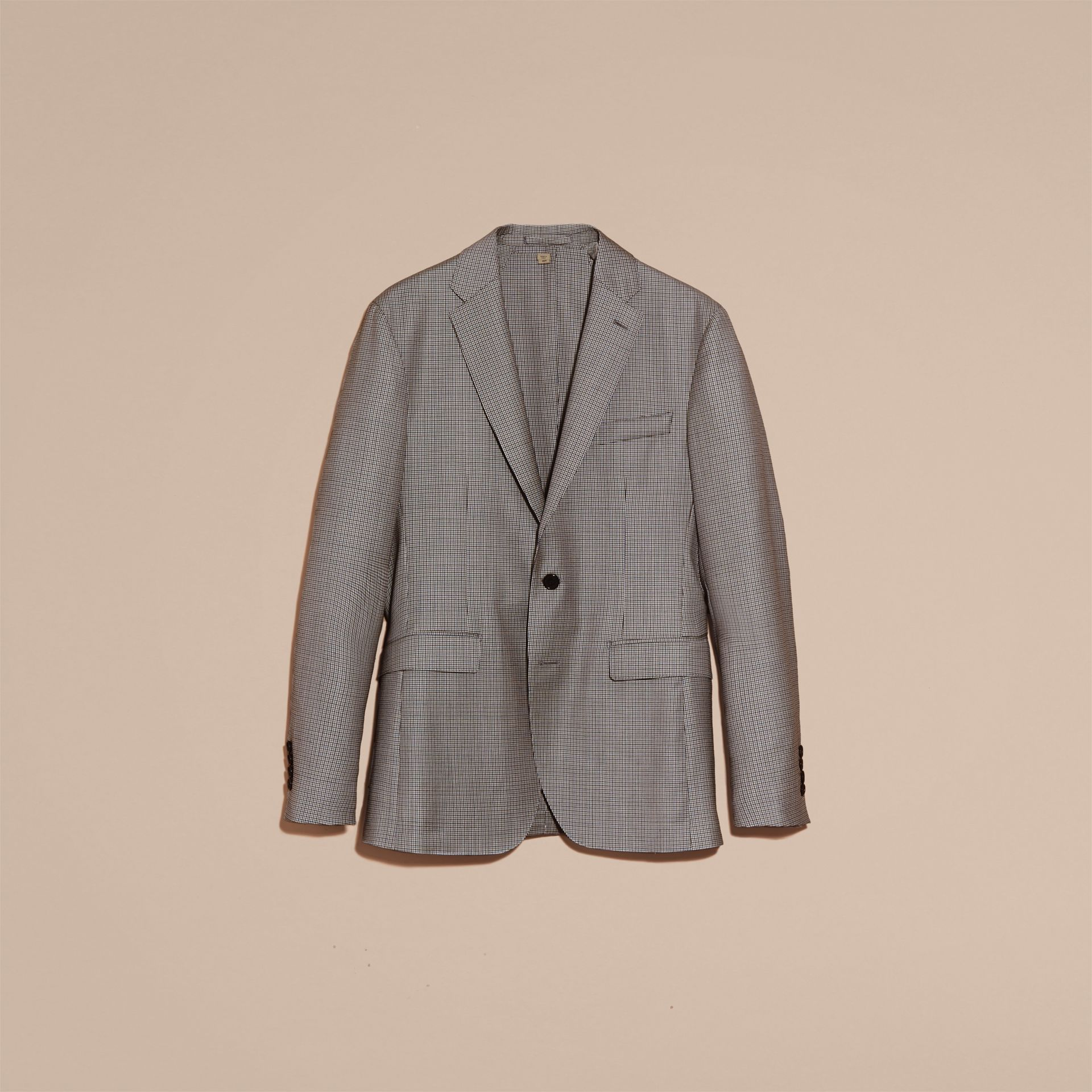 Slim Fit Houndstooth Wool Tailored Jacket - Men | Burberry - gallery image 4