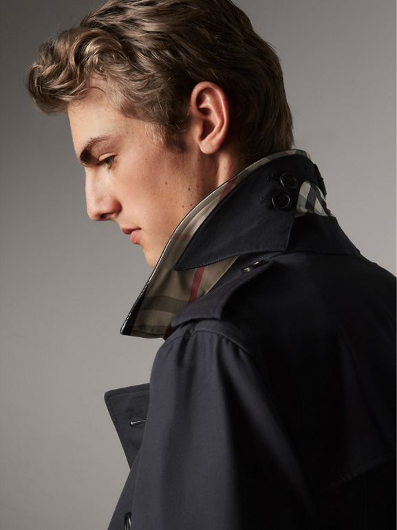 The Kensington – Mid-length Trench Coat in Navy - Men | Burberry - cell image 1