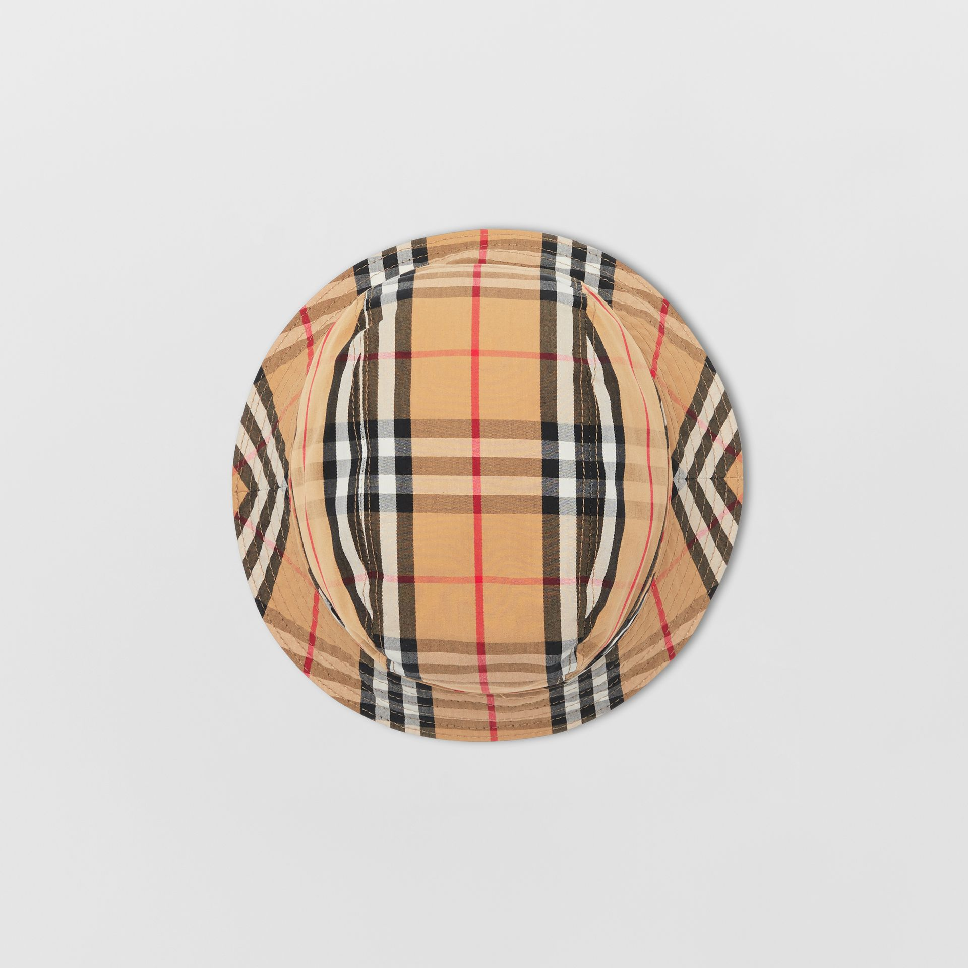 Vintage Check Cotton Bucket Hat in Antique Yellow | Burberry - gallery image 4