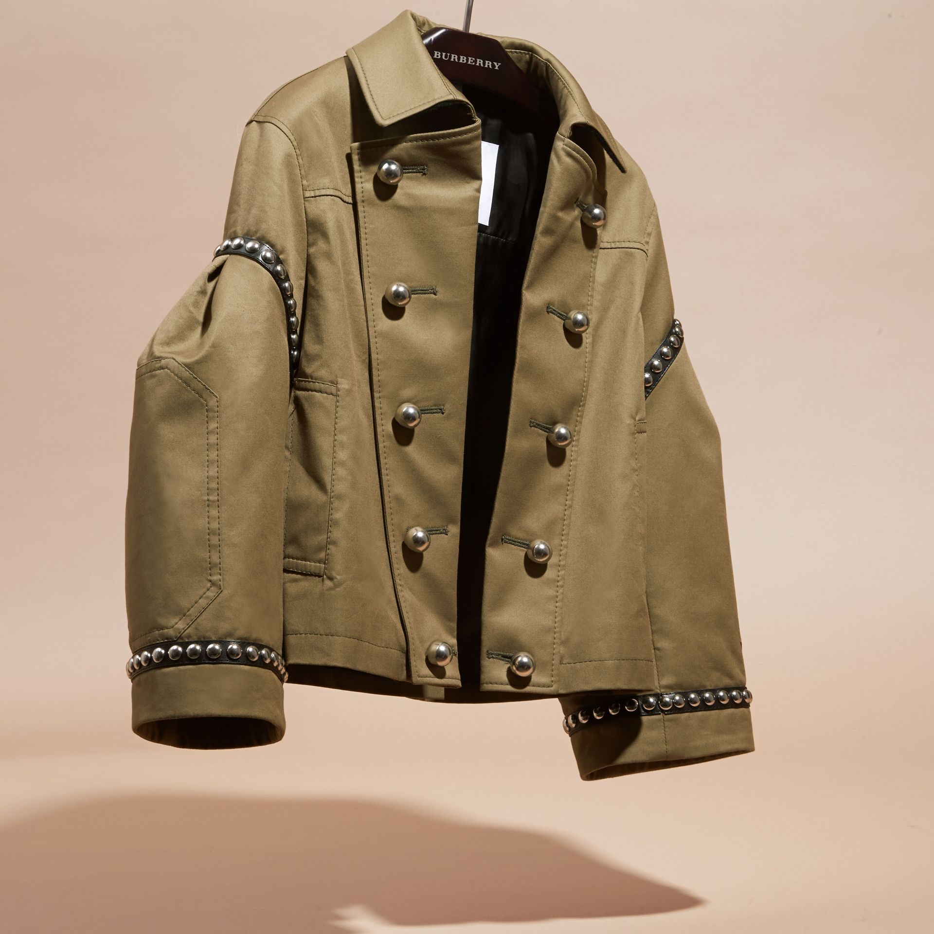Sage Stretch Cotton Military Jacket - gallery image 3