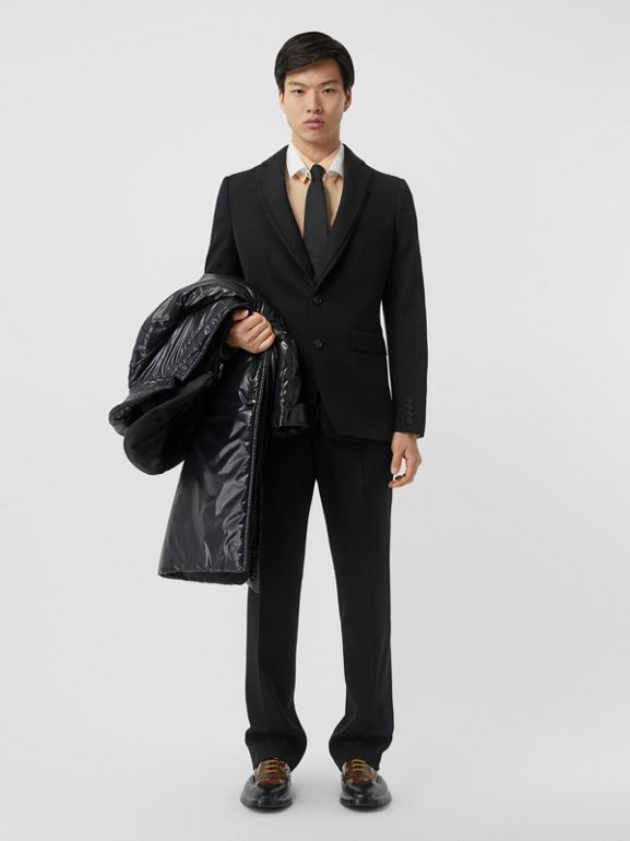 Classic Fit Wool Tailored Trousers in Black - Men | Burberry Australia - cell image 1