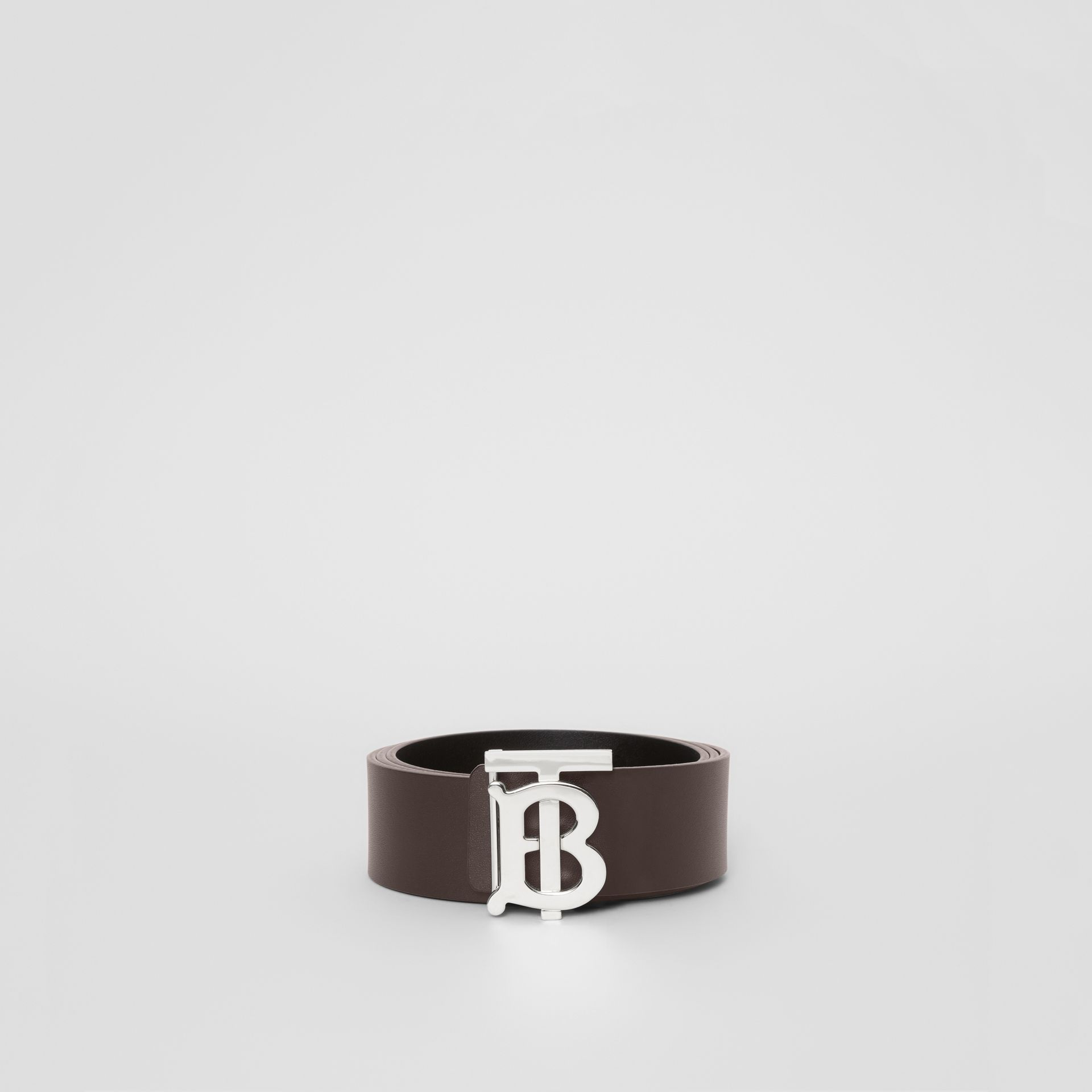 Reversible Monogram Motif Leather Belt in Black/malt Brown - Men | Burberry United States - gallery image 6