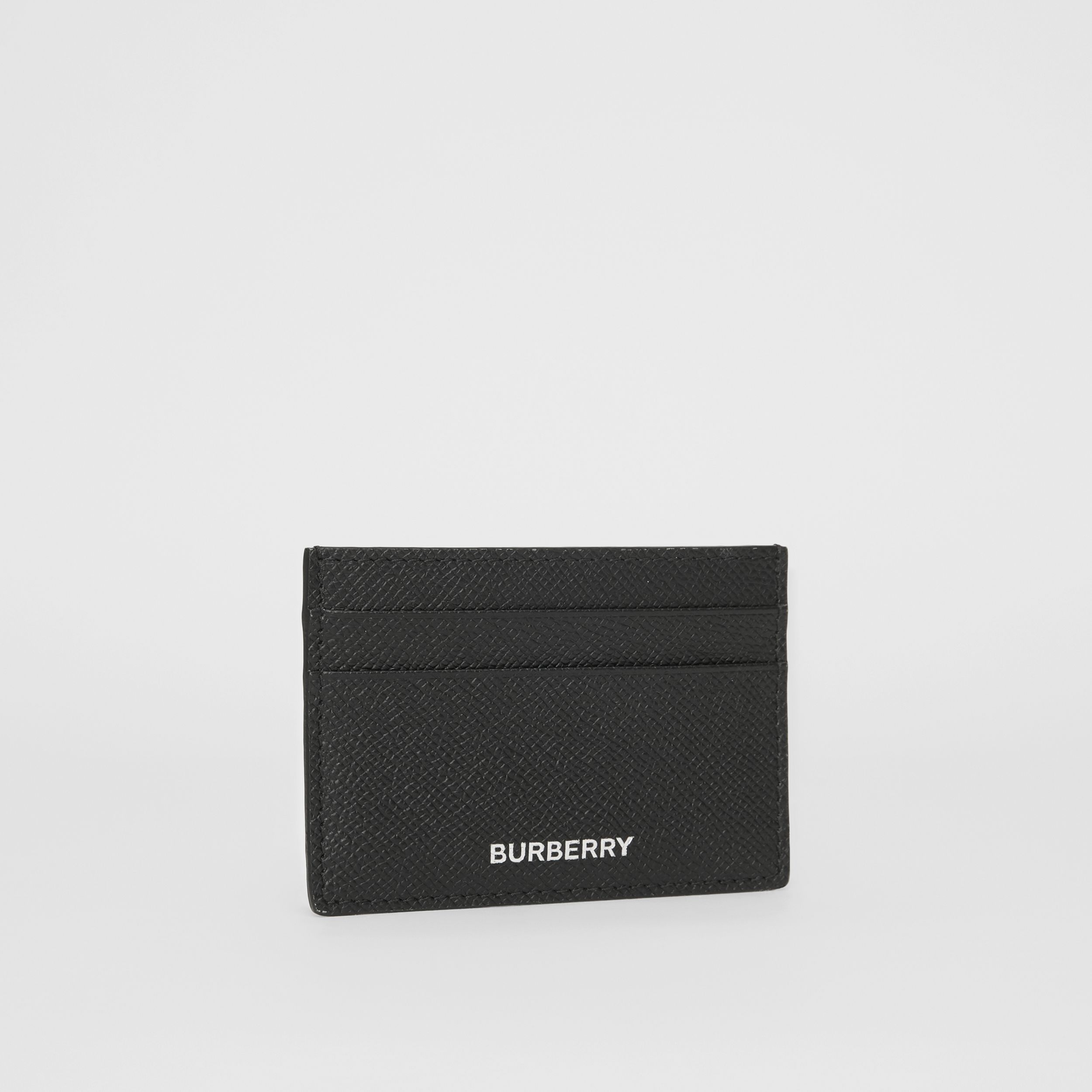 Grainy Leather Card Case in Black - Men | Burberry - 4