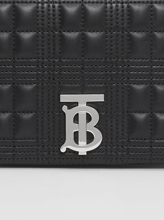 Small Crystal Detail Quilted Lambskin Lola Bag in Black - Women | Burberry - cell image 1