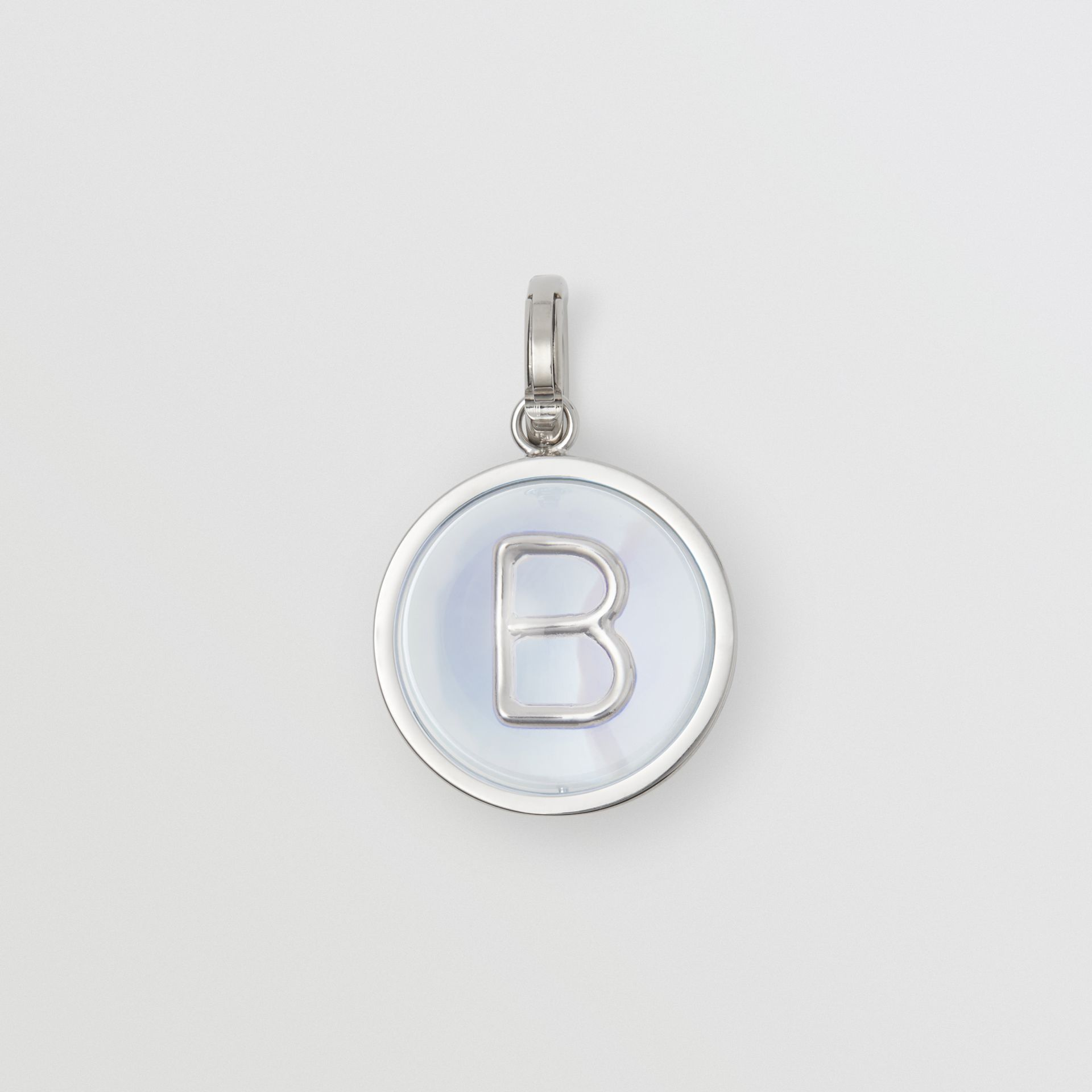 Marbled Resin 'B' Alphabet Charm in Palladio/nacre - Women | Burberry Australia - gallery image 0