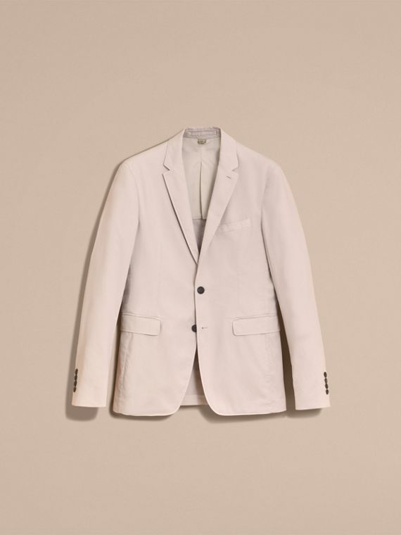 Slim Fit Stretch-cotton Blazer Sand - cell image 3