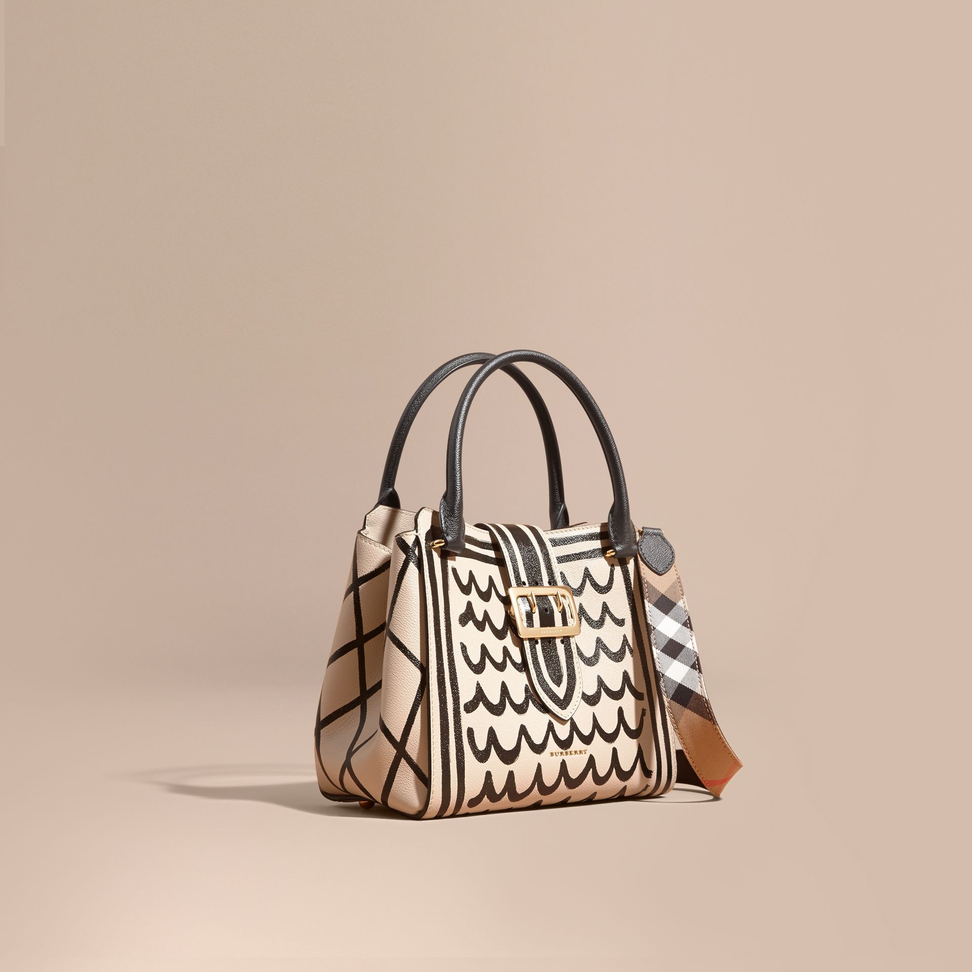The Medium Buckle Tote in Trompe L'oeil Print Leather - gallery image 1