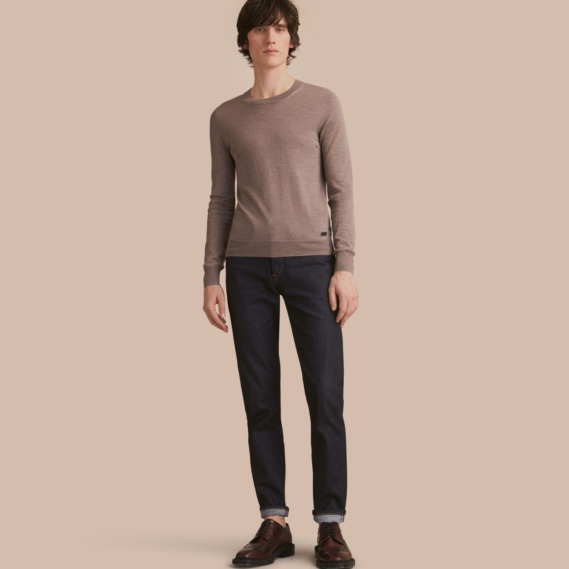 Relaxed Fit Comfort Stretch Indigo Japanese Denim Jeans in Dark - Men | Burberry - gallery image 0