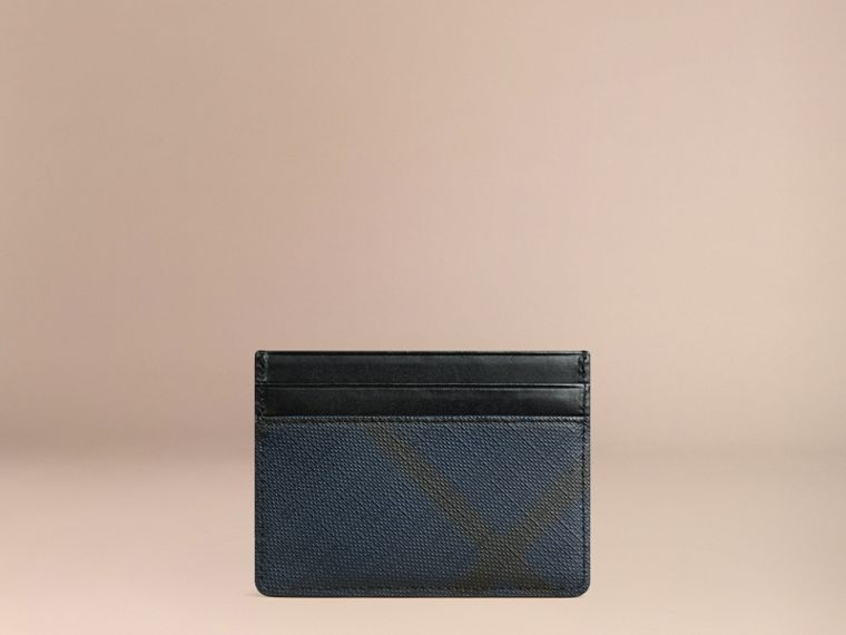 London Check Card Case Navy/black - cell image 2